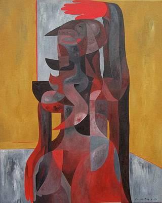 Painting - Staid Caryatid by Joseph York