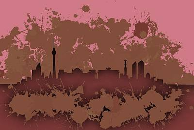 Cityscapes Digital Art - Stain Berlin Skyline.2 by Alberto RuiZ