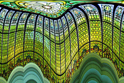 Photograph - Stain Glass Curtain - B by Suzanne L Kish