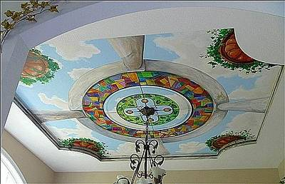 Painting - Stain Glass Dome Ceiling by Denise Ivey Telep