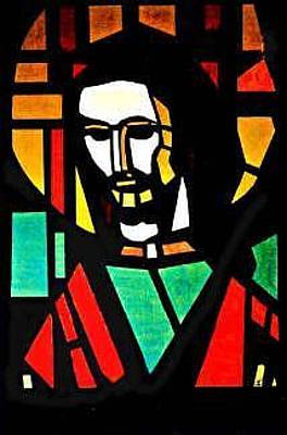 Mixed Media - Stain Glass Savior by Michael Puleo