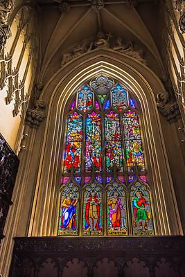Photograph - Stain Glass Window by Bill Howard