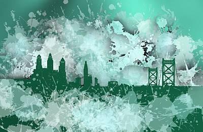 Philadelphia Digital Art - Stain Philadelphia Skyline.1 by Alberto RuiZ