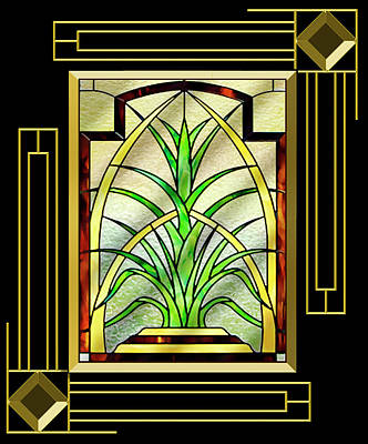 Digital Art - Stained Glass 1 - Frame 5 by Chuck Staley