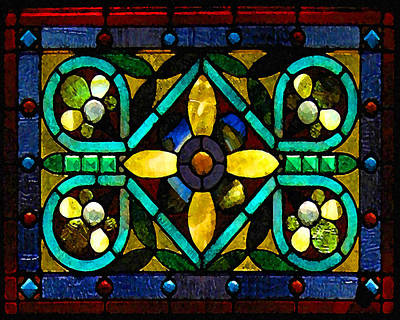 Photograph - Stained Glass 1 by Timothy Bulone