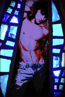 Digital Art - Stained Glass - 2/10 by John Waiblinger