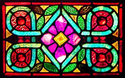 Photograph - Stained Glass 4 by Timothy Bulone