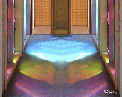 Digital Art - Stained Glass #4714_2 Spiritual Path by Barbara Tristan