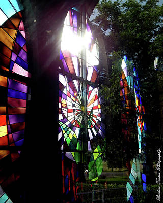 Photograph - Stained Glass #4718 by Barbara Tristan
