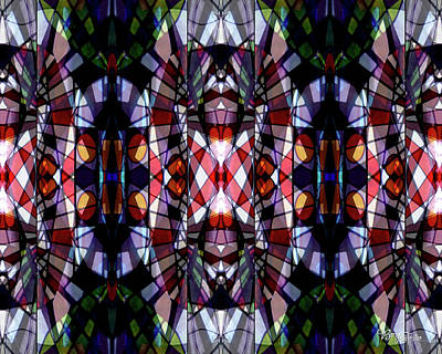 Photograph - Stained Glass #4722 Abstract Design 2 by Barbara Tristan