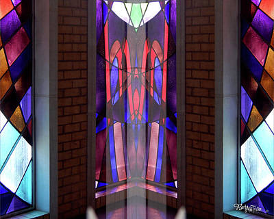 Digital Art - Stained Glass #4723 Inner Illusion 2b by Barbara Tristan