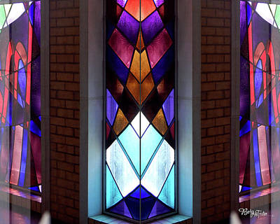 Photograph - Stained Glass #4723 Outer Illusion 2a by Barbara Tristan