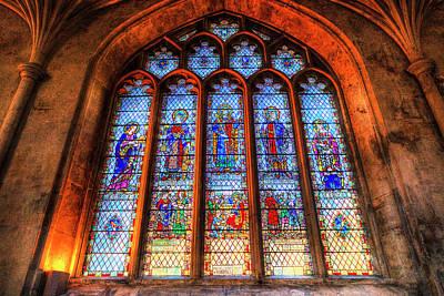 Photograph - Stained Glass Abbey Window by David Pyatt
