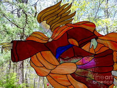 Photograph - Stained Glass Angel by Ed Weidman