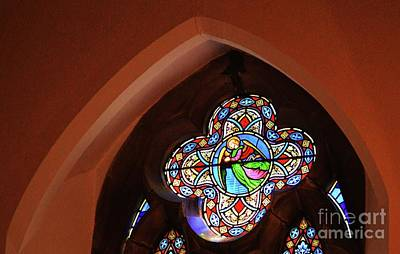 Stained Glass Ireland Photograph - Stained Glass At St. Patrick's Enniskerry by Poet's Eye