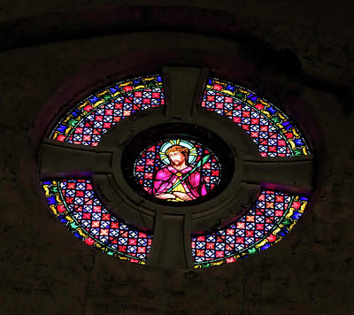 Photograph - Stained Glass At The Abandoned Monastery 2 by John Hoey