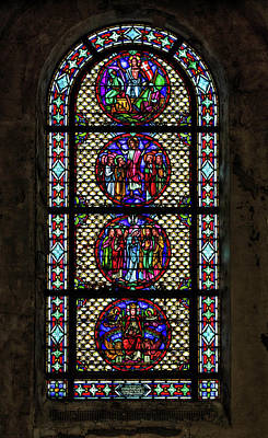 Photograph - Stained Glass At The Abandoned Monastery 3 by John Hoey