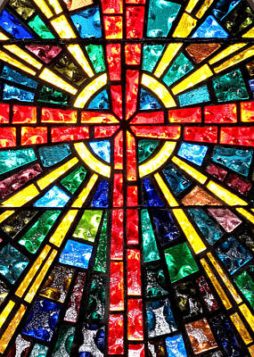 Photograph - Stained Glass At The Church At La Villita    by David and Carol Kelly