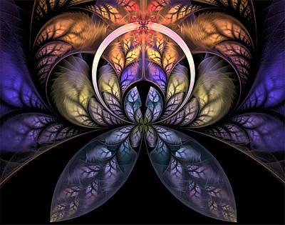 Digital Art - Stained Glass by Barbara A Lane