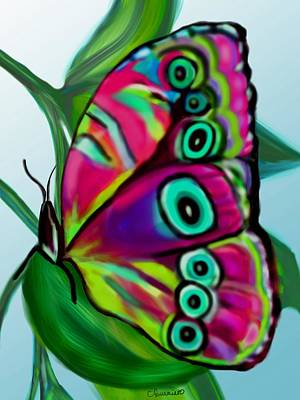 Painting - Stained Glass Butterfly by Christine Fournier
