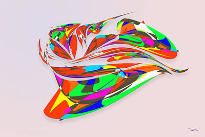 Wall Art - Digital Art - Stained Glass Cap by Warren Lynn