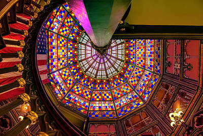 Photograph - Stained Glass, Old State Capital, Baton Rouge by Chris Coffee