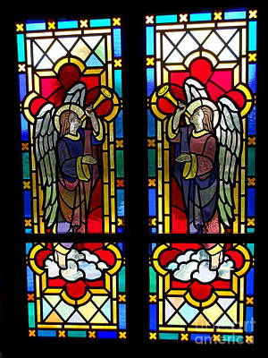 Photograph - Stained Glass Church Doors by Ed Weidman