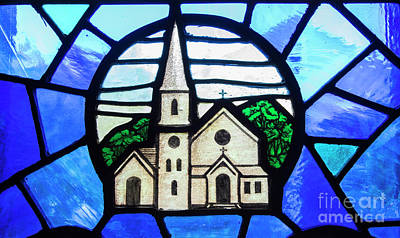 Stained Glass Windows Photograph - Stained Glass Church by Juli Scalzi