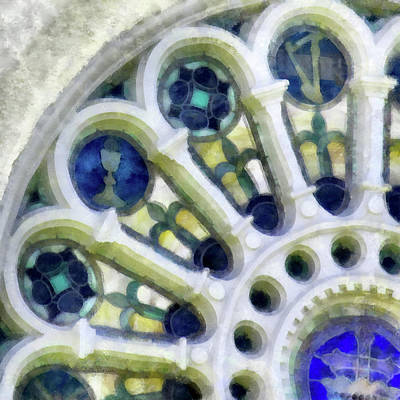 Photograph - Stained Glass Church Window by Betty Denise