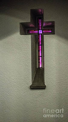 Photograph - Stained Glass Cross by Thomas Marchessault