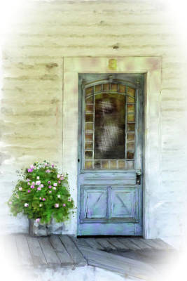 Mixed Media - Stained Glass Door by Mary Timman