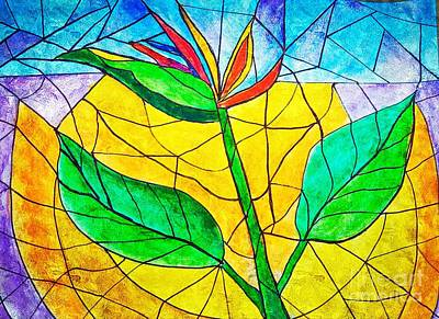 Painting - Bird Of Paradise Abstract by Anne Sands