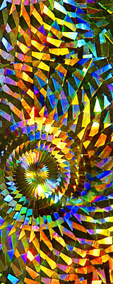 Stained Glass Fantasy 1 Art Print by Francesa Miller