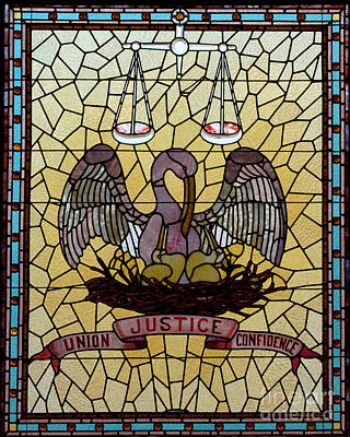 Photograph - Stained Glass - To License For Professional Use Visit Granger.com by Granger