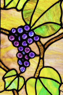 Photograph - Stained Glass Grapes 01 by Jim Dollar