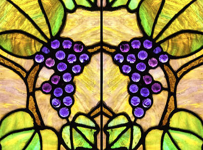 Photograph - Stained Glass Grapes 07 by Jim Dollar
