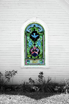 Photograph - Stained Glass by Greg Fortier