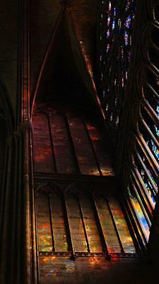 Photograph - Stained Glass Impression Notre Dame Paris by Lawrence S Richardson Jr