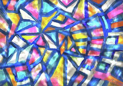 Digital Art - Stained Glass by Jean Batzell Fitzgerald