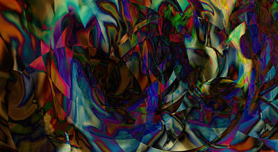 Trippy Digital Art - Stained Glass by Joshua Sunday
