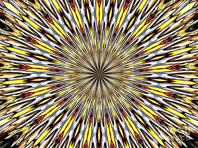 Art Print featuring the photograph Stained Glass Kaleidoscope 22 by Rose Santuci-Sofranko