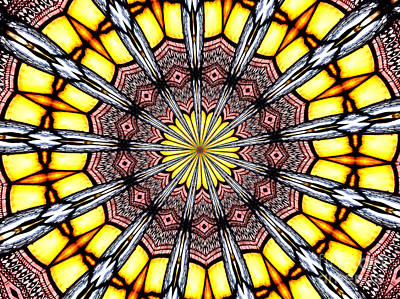 Art Print featuring the photograph Stained Glass Kaleidoscope 23 by Rose Santuci-Sofranko