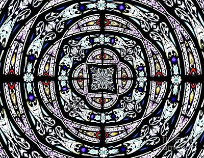 Photograph - Stained Glass Kaleidoscope 29 by Rose Santuci-Sofranko