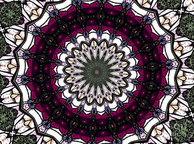 Art Print featuring the photograph Stained Glass Kaleidoscope 4 by Rose Santuci-Sofranko