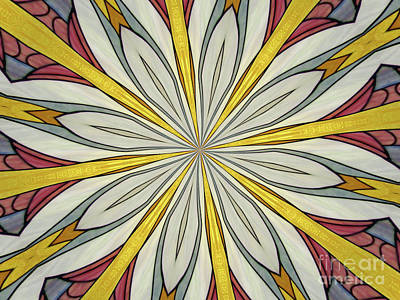 Photograph - Stained Glass Kaleidoscope 40 by Rose Santuci-Sofranko