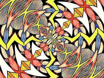Photograph - Stained Glass Kaleidoscope 48 by Rose Santuci-Sofranko