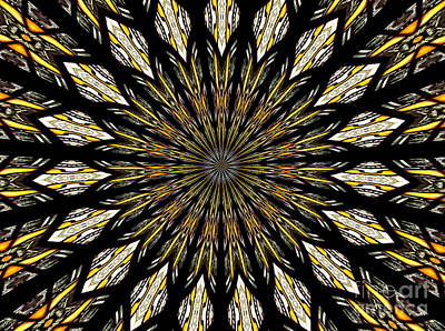 Art Print featuring the photograph Stained Glass Kaleidoscope 5 by Rose Santuci-Sofranko