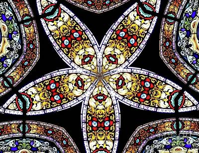 Photograph - Stained Glass Kaleidoscope 50 by Rose Santuci-Sofranko