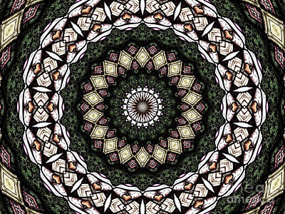 Art Print featuring the photograph Stained Glass Kaleidoscope 6 by Rose Santuci-Sofranko