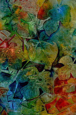 Shards Painting - Stained Glass Leaves by Carla Parris
